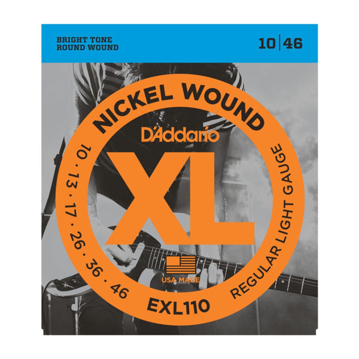 D'Addario Nickel Light Gauge EXL110 Electric Guitar Strings