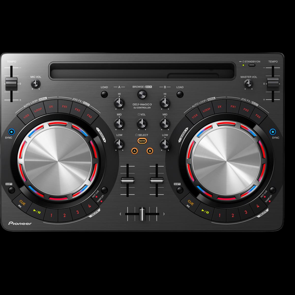 Pioneer DDJ Wego 3 Compact DJ Controller with iOS support Black