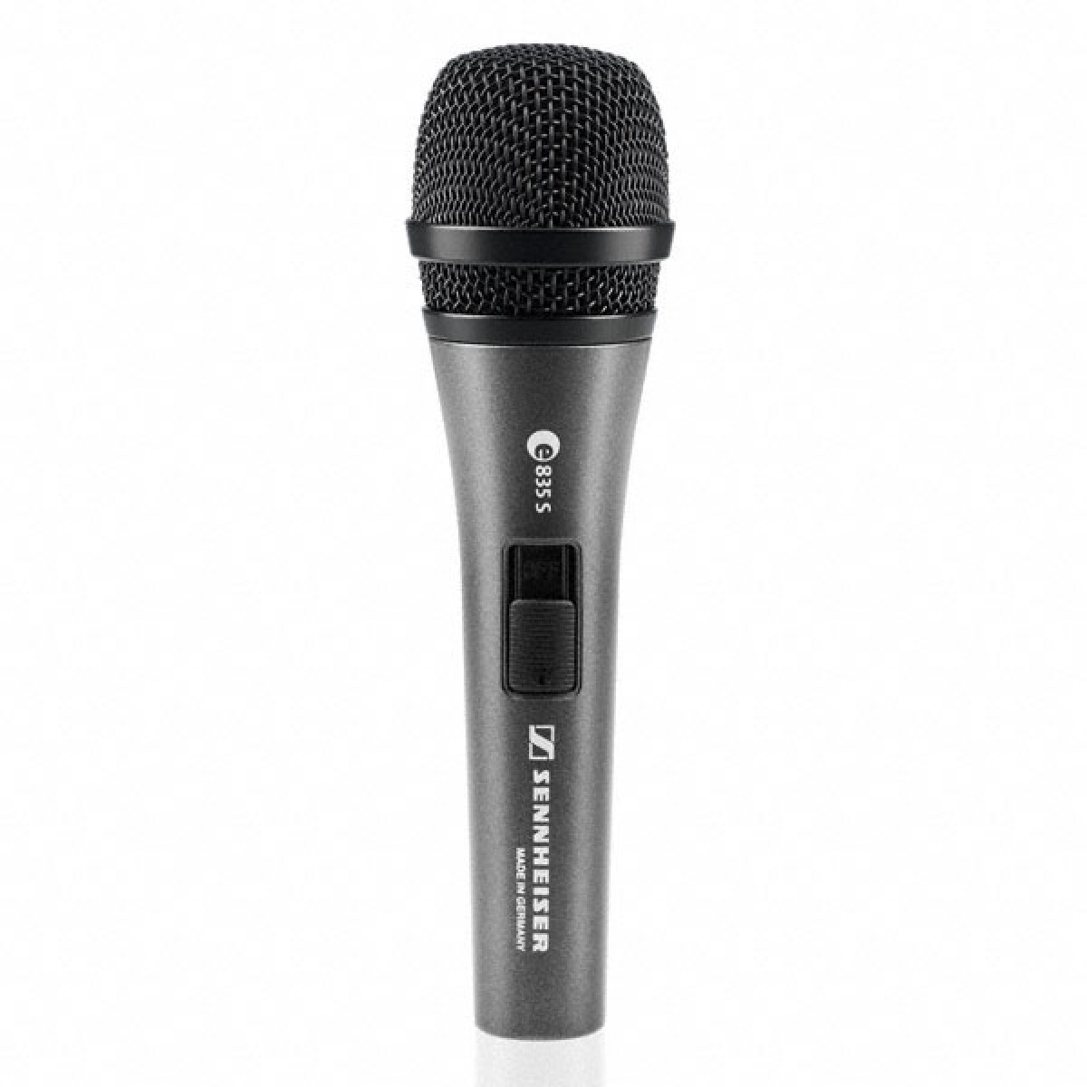 sennheiser e835 s dynamic cardioid handheld vocal mic with on off switch. Black Bedroom Furniture Sets. Home Design Ideas