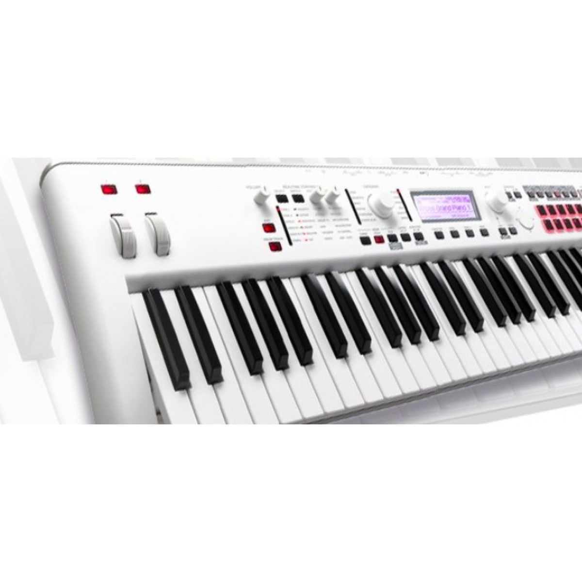 korg kross2 white 61 key synthesizer workstation limited edition synthesizers keyboards. Black Bedroom Furniture Sets. Home Design Ideas