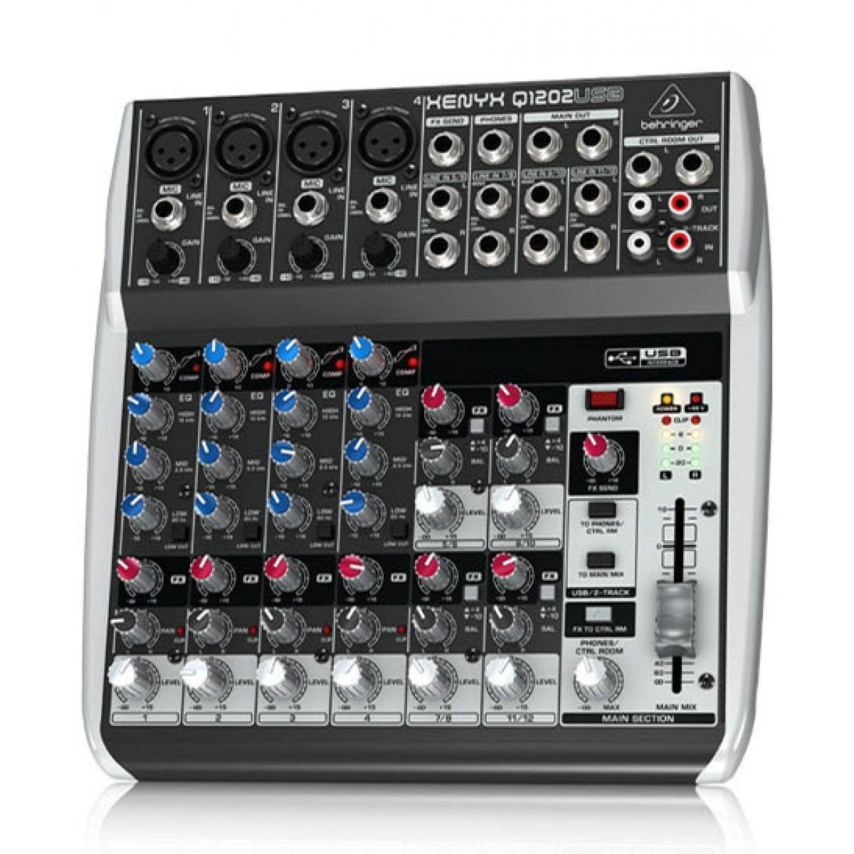 behringer xenyx q1202usb mixer 4 mono input 2 bus w kt fx usb. Black Bedroom Furniture Sets. Home Design Ideas