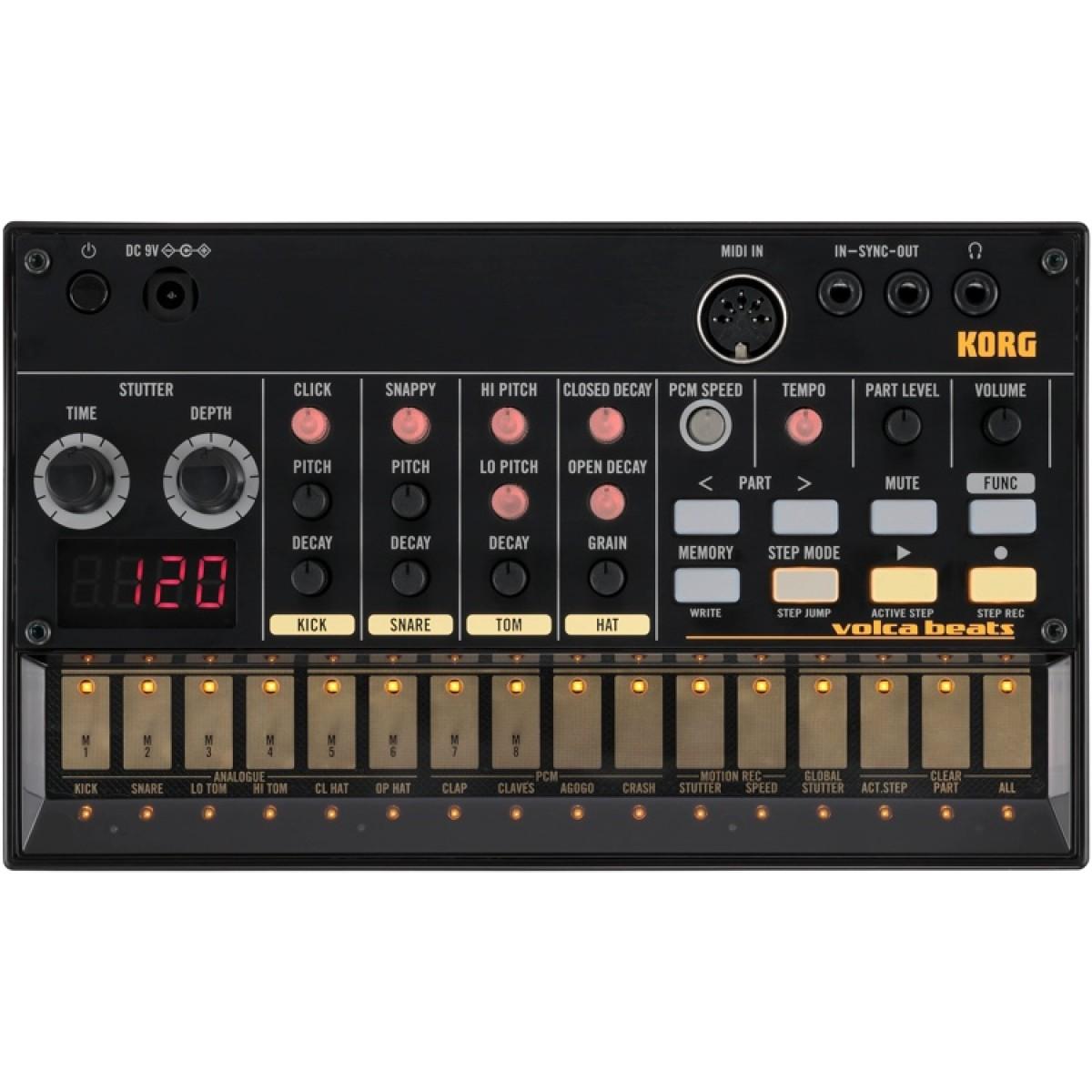KORG VOLCA BEATS Analogue Rhythm Machine - Beat Production - DJ