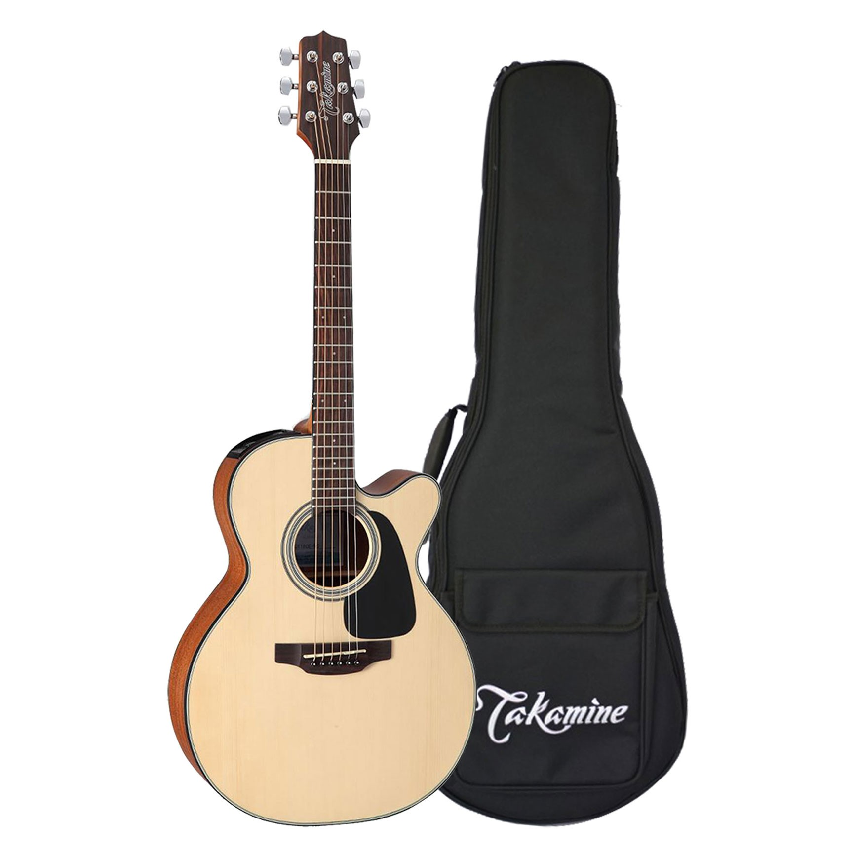 takamine gx18ce ns 3 4 travel size acoustic electric guitar with gig bag. Black Bedroom Furniture Sets. Home Design Ideas