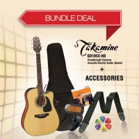 Takamine GD10CE-NS Semi Dreadnought Guitar + Accessories Bundle Deal