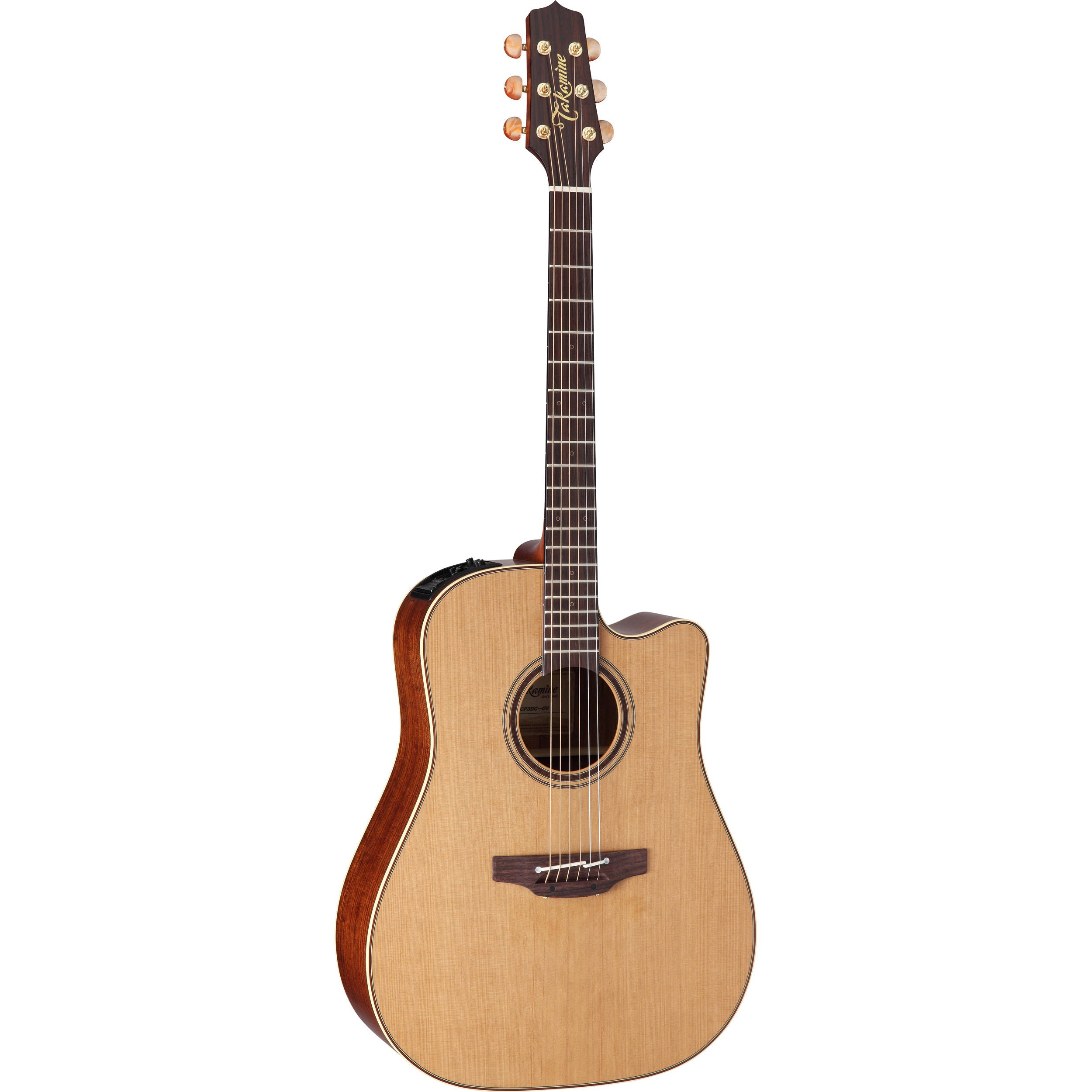 takamine p3dc dreadnought acoustic electric guitar with case guitars. Black Bedroom Furniture Sets. Home Design Ideas
