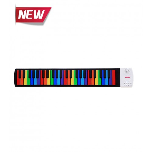 Musberry MFK-49 Keys Rainbow Multi Function Hand Roll Keyboard