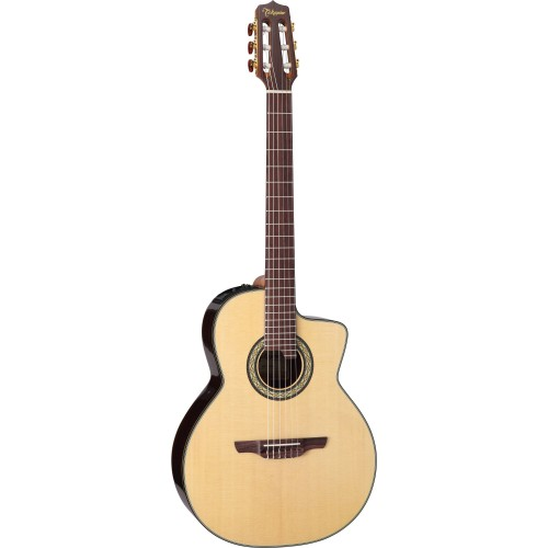 Takamine TC135SC Classical 24-Fret Cutaway Acoustic-Electric Natural Guitar with Case