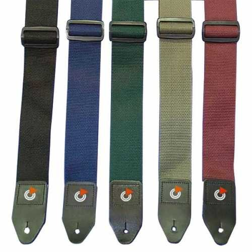 Bespeco TC2RD Nylon Guitar Straps With Glide