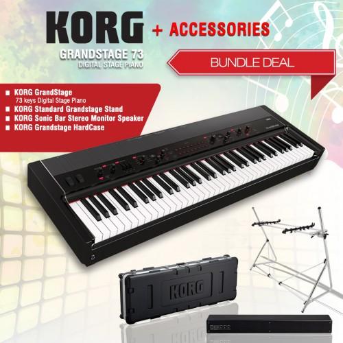 Korg Grandstage 73 Digital Stage Piano + ACCESORIES BUNDLE