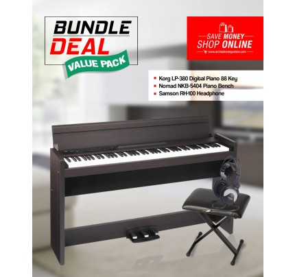 Korg LP380-88 Digital Piano 88 Key + Accessories Bundle Deal