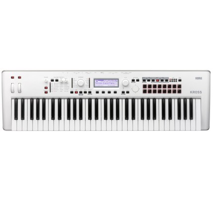 Korg Kross2 White 61-key Synthesizer Workstation-LImited Edition