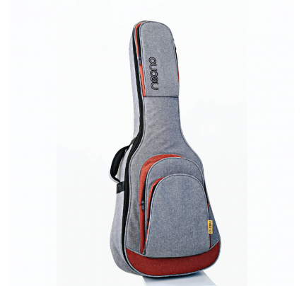 Neono NOVA Acoustic Guitar Premium Gig Bag - Red/Gray