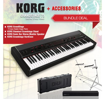 Korg Grandstage 73 Digital Stage Piano + ACCESORIES BUNDLE